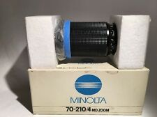 MINOLTA 70-210/4 MD ZOOM LENS INCREDIBLE NEW IN BOX LOOK!