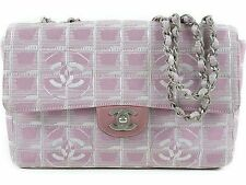 CHANEL New travel line Chain Shoulder Bag pink 100% Auth From JAPAN