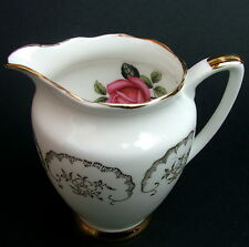 Royal Imperial Pink Rose Supreme Pattern Sm Coffee Cream Jug 9cmh - Looks in VGC