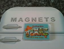 Texas The Lone Star State Fridge Magnet. NEW. Retro Postcard Art. America, USA