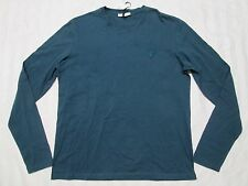 VERSACE COLLECTION Mens BOTTLE GREEN Long-Sleeve T-Shirt Size L-XL