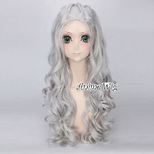 Long Sliver White Full Cosplay Wig For A song of ice and fire Daenerys Targaryen