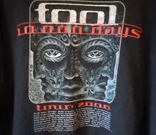 Tool 10000 Days Tour 2006 Concert Dates Band Black T Shirt Rare Los Angeles CA