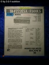 Sony Service Manual TA F222ESX /F500ES Amplifier (#5782)