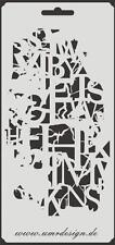 Scrapbooking Schablone S-164  Buchstaben vintage ~ Stencil ~ UMR-Design