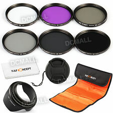58mm Filter UV CPL FLD ND 2 4 8 + Lens Hood for Canon Rebel T4i T3i T3 T2i XSi