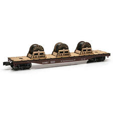 Railroad Train O Gauge Pennsylvania Flatcar 14 3/4 inch with Wire Spools