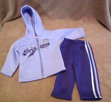 Baby Girls Toddler Angel Face Purple Princess Hoodie Sweatsuit Outfit Size 3-6M