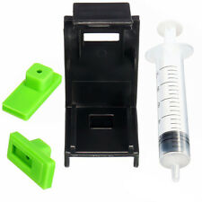 3in1 Ink Refill Cartridge Clip+ 2pcs Rubber Pads + Syringe Tool Kit for HP 60/61