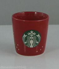 Starbucks 2013 Christmas red TASTING CUP cappuccino GWP