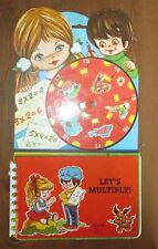 Vintage Children's Math Book Moving pieces Multiplication LET'S MULTIPLY!