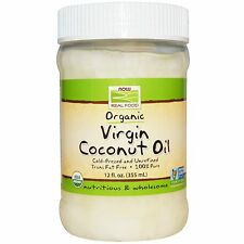 NOW Foods ORGANIC VIRGIN COCONUT OIL Cold-Pressed Unrefined Pure 12 fl oz