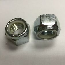 1/4-20 NC Nylon Insert Lock Nuts Steel Zinc 500 count box