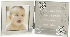 Engraved Baby Data Photo Frame Personalised 1st - First Christmas  Gift