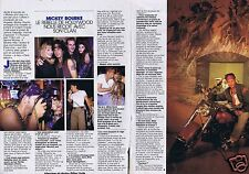 Coupure de presse Clipping 1989 Mickey Rourke  (2 pages)
