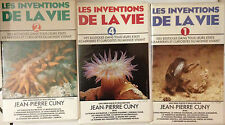 RARE LOT 3 K7 VIDEO VHS LES INVENTIONS DE LA VIE // JEAN PIERRE CUNY