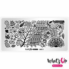 A011 Leaves Are Fall-ing Stamping Plate For Stamped Nail Art Design