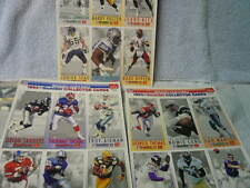 49 COMPLETE SETS OF 18 McDONALDS GAMEDAY COLLECTOR CARDS.. UNCUT..882 CARDS