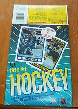 O-pee-Chee Hockey empty box  1990 -91  box bottom Doug Wilson / Don Beaupre