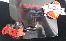 Body Rage by Spencers Love & Hate Puffy Heart Barrette Hair Clip **Brand NEW**