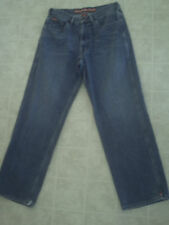 Mens Vintage TOMMY  HILFIGER Jeans Sz 36x30 Loose-Fit -BLUE Made in Mexico