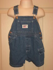 Infant Carters Watch the Wear USA Flag Overalls Shortalls Denim Sz 12 Months