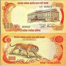 South Vietnam 1972 , Tiger - 500 Dong , Banknote UNC
