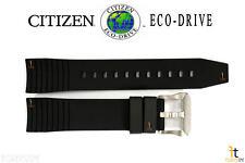 Citizen Eco-Drive BN5030-06E Original Black Rubber Watch Band Strap BN4020-05E