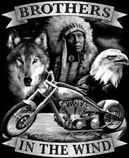 BROTHERS IN THE WIND indian wolf eagle TEE SHIRT SIZE XL adult TJB16  tshirt NEW