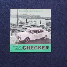 """CHECKER 1964 Auto Dealer Sales Brochure 8 1/2"""" x 9"""" 10 pages EUC"""