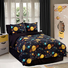 Bedding Sets Twin For Boys Teens Space Comforter Set Galaxy Glow In The Dark Bed