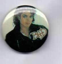 MICHAEL JACKSON  BAD BUTTON BADGE 80s POP - KING OF POP 25mm Pin