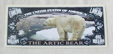 USA 'Polar Bear' 1 Million Dollar banknote - Wildlife Species - UNC & CRISP