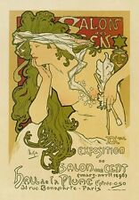 AP31 Vintage 1896 Mars-Avril French Art Advertisement Poster Card Print A5