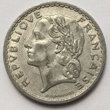 1949 5 FRANCS FRANCE ALUMINUM COIN FREE SHIPPING