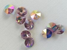 "Swarovski Crystals - 10 ""Light Amethyst"" 8mm Crystals- Austrian Art.6200 Corona"