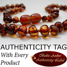 COGNAC Baltic Amber Baby Child Necklace