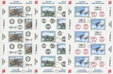 ÖSTERREICH - TAG DER BRIEFMARKE KLEINBOGEN 2004 2005 2006 FLUGZEUGE AIRPLANES g