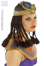 Egipcia Cleopatra Casco Peluca Con Trenzas Fancy Dress