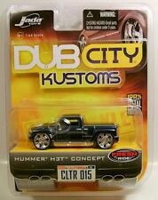 HUMMER H3 H3T TRUCK PICKUP BLUE DUB CITY KUSTOMS DIECAST JADA 2005 RARE