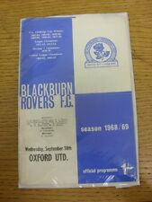 18/09/1968 Blackburn Rovers v Oxford United  . Thanks for viewing this item, buy