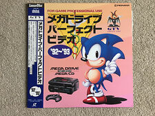 SEGA MEGA DRIVE / MEGA CD PERFECT VIDEO '92 - '93  - SONIC /  LASERDISC