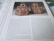 Nürnberg Archiv 3 Kunstgeschichte 3083 Schraubflaschen Emailamlerei 1650 Strauch
