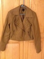 Therapy By Lane Crawford Tan Faux Leather Jacket