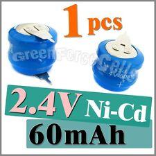 Pile 2.4V Rechargeable Ni-Mh 60Mah à Pattes ou Languettes Accu Batterie Battery
