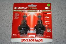 Sylvania Silverstar ULTRA H13/9008 Pair Set High Performance Headlight Bulbs NEW