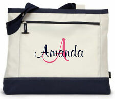 Personalized Tote Bag Monogram Bridesmaid Gift Teacher Nurse Purse