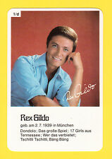 Rex Gildo 1960s Pop Rock Music Vintage Card from Germany