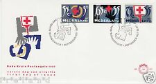 Netherlands First Day Cover 1987 Dutch FDC 247 Red Cross Stamps