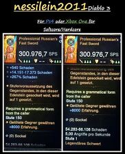Diablo 3 RoS Ps4/Xbox One - 1x Fast Sword 1x Fast Crossbow - LvL 1 - SC/HC